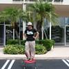 Karen Nobel in front of our location in Jupiter, FL