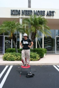 Karen Nobel in front of our location in Jupiter, FL